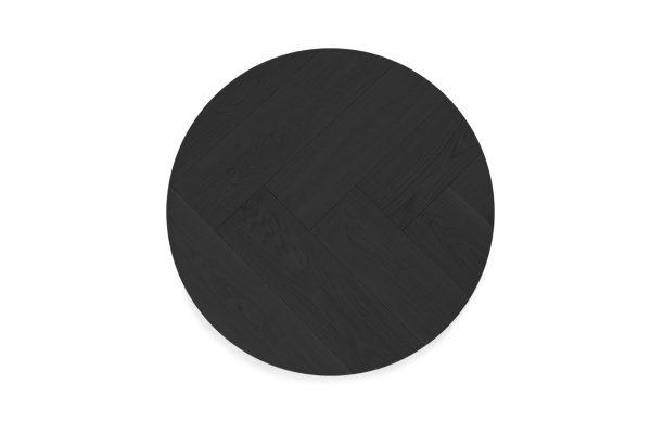 Salontafel Gary - Visgraat rond zwart