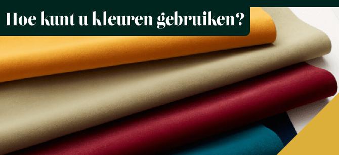 Hoe kunt u kleuren het beste gebruiken in uw interieur?