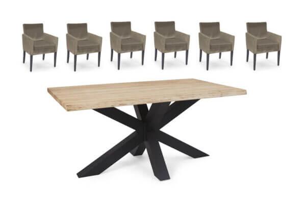 Eetkamerset Finn - 6 stoelen