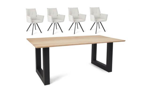 Eetkamerset Mitchell - 4 stoelen