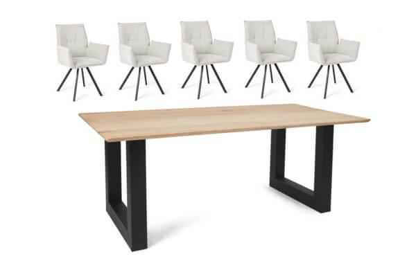 Eetkamerset Mitchell - 5 stoelen