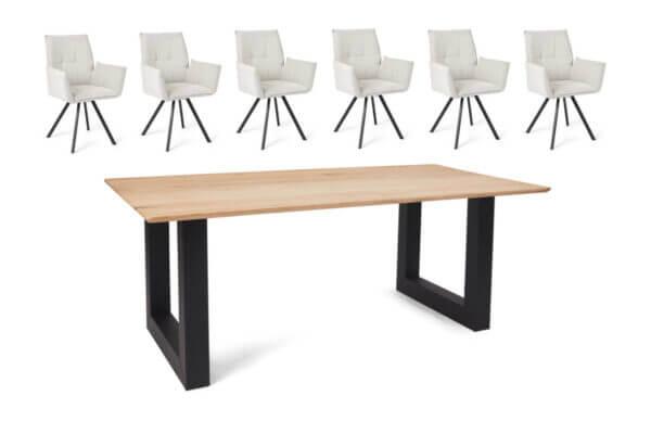 Eetkamerset Mitchell - 6 stoelen