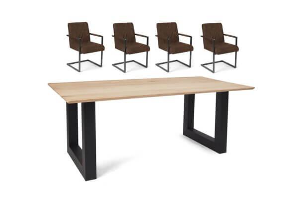 Eetkamerset Ryan - 4 stoelen