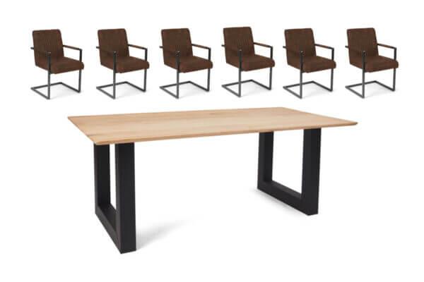 Eetkamerset Ryan - 6 stoelen