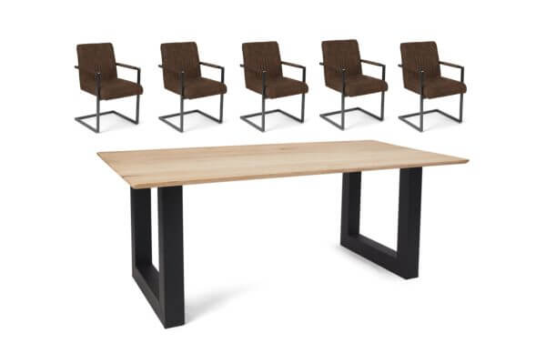 Eetkamerset Ryan - 5 stoelen