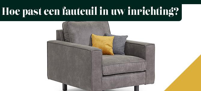 Hoe past een fauteuil in uw inrichting?