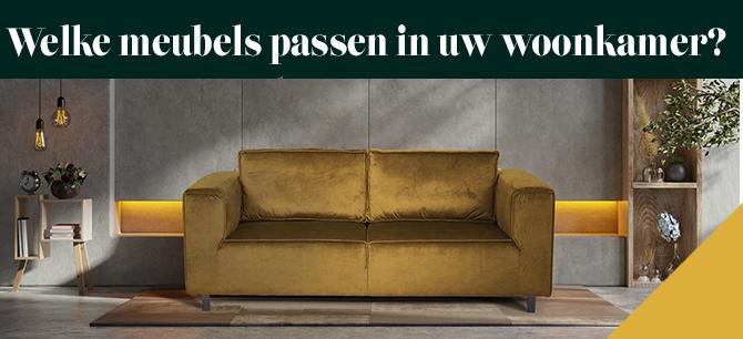 Welke meubels passen er goed in uw woonkamer?